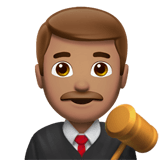 👨🏽‍⚖️ Man Judge: Medium Skin Tone, Emoji by Apple