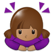 🙇🏽‍♀️ Woman Bowing: Medium Skin Tone, Emoji by Samsung