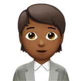 🧑🏾‍💼 Office Worker: Medium-Dark Skin Tone, Emoji by Apple