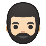 🧔🏻 Man: Light Skin Tone, Beard, Emoji by Google
