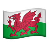 🏴󠁧󠁢󠁷󠁬󠁳󠁿 Flag: Wales, Emoji by Apple