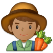 👨🏽‍🌾 Man Farmer: Medium Skin Tone, Emoji by Samsung