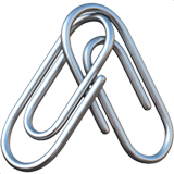 🖇️ Linked Paperclips, Apple  Emoji