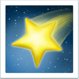 🌠 Shooting Star, Emoji by Apple