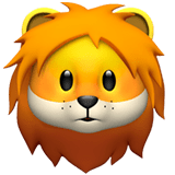 🦁 Lion, Apple  Emoji