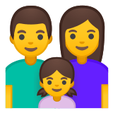 👨‍👩‍👧 Family: Man, Woman, Girl, Google  Emoji
