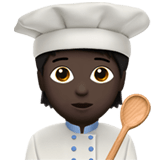 🧑🏿‍🍳 Cook: Dark Skin Tone, Emoji by Apple