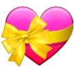 💝 Heart with Ribbon, Emoji by Samsung