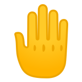 🤚 Raised Back of Hand, Emoji by Google