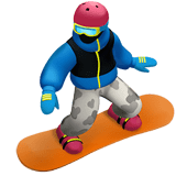 🏂🏾 Snowboarder: Medium-Dark Skin Tone, Emoji by Apple