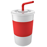 🥤 Cup with Straw, Apple  Emoji