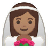 👰🏽 Bride with Veil: Medium Skin Tone, Google  Emoji