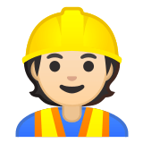 👷🏻 Construction Worker: Light Skin Tone, Google  Emoji
