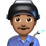 👨🏽‍🏭 Man Factory Worker: Medium Skin Tone, Emoji by Apple