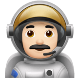 👨🏻‍🚀 Man Astronaut: Light Skin Tone, Emoji by Apple