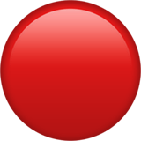 🔴 Red Circle, Emoji by Apple