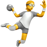 🤾 Person Playing Handball, Emoji by Apple