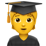 🧑‍🎓 Student, Emoji by Apple