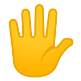 🖐️ Hand with Fingers Splayed, Emoji by Google