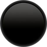 ⚫ Black Circle, Apple  Emoji