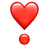 ❣️ Heart Exclamation, Emoji by Apple