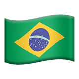 🇧🇷 Flag: Brazil, Apple  Emoji