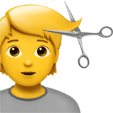 💇 Person Getting Haircut, Emoji by Apple