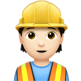 👷🏻 Construction Worker: Light Skin Tone, Apple  Emoji