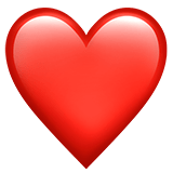 ❤️ Cœur Rouge Emoji par Apple