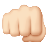 👊🏻 Oncoming Fist: Light Skin Tone, Emoji by Apple