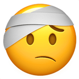 🤕 Face with Head-Bandage, Apple  Emoji