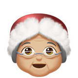 🤶🏼 Mrs. Claus: Medium-Light Skin Tone, Emoji by Apple