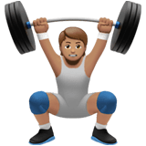 🏋🏽 Person Lifting Weights: Medium Skin Tone, Emoji by Apple