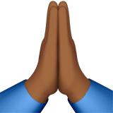 🙏🏾 Folded Hands: Medium-Dark Skin Tone, Emoji by Apple