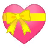 💝 Heart with Ribbon, Emoji by Google