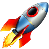 🚀 Rocket, Apple  Emoji
