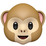 🐵 Monkey Face, Emoji by Apple