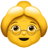 👵 Old Woman, Emoji by Apple