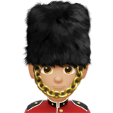 💂🏼‍♂️ Man Guard: Medium-Light Skin Tone, Emoji by Apple