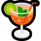 🍹 Tropical Drink, Microsoft  Emoji