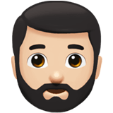 🧔🏻 Man: Light Skin Tone, Beard, Emoji by Apple