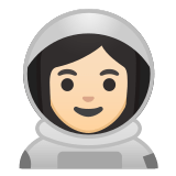 👩🏻‍🚀 Woman Astronaut: Light Skin Tone, Emoji by Google