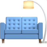 🛋️ Couch and Lamp, Apple  Emoji