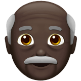 👴🏿 Old Man: Dark Skin Tone, Emoji by Apple