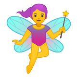 🧚‍♀️ Woman Fairy, Emoji by Google