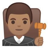👨🏽‍⚖️ Man Judge: Medium Skin Tone, Emoji by Google