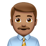 👨🏽‍💼 Man Office Worker: Medium Skin Tone, Emoji by Apple