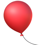 🎈 Balloon, Apple  Emoji
