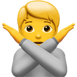 🙅 Person Gesturing No, Emoji by Apple