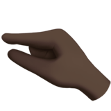 🤏🏿 Pinching Hand: Dark Skin Tone, Emoji by Apple